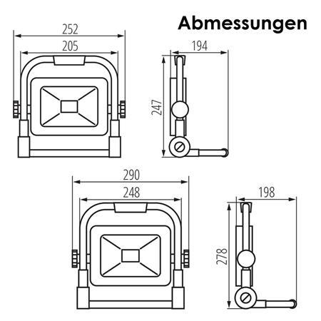 LED Baustrahler 30//50W 230V 4000K Baulicht-Scheinwerfer tragbar Arbeitsleuchte