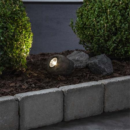 LED Solar Stein Leuchte ROCKY IP44 Solar Strahler Steine