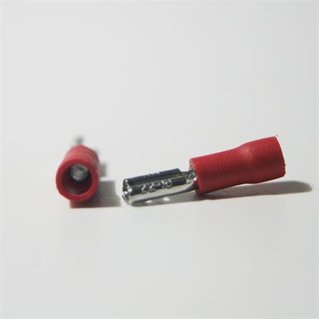 100 Scarpe Cavo TERMINALI piatti femmina rosso 4,8 x0 5mm per 0,5-1,5mm² Cavo Presa Scarpa