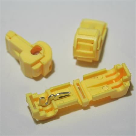 10 Abzweigverbinder für Kabelschuhe GELB 4,0-6,0mm² Stromdiebe Klemmverbinder