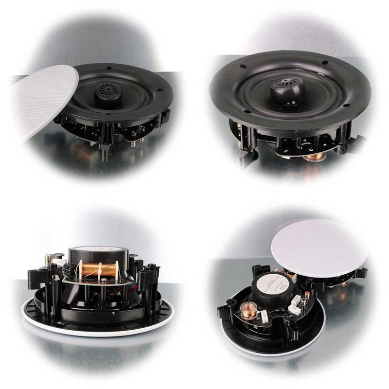Ceiling speaker | 2pcs. | white | titanium tweeter | 80/120W