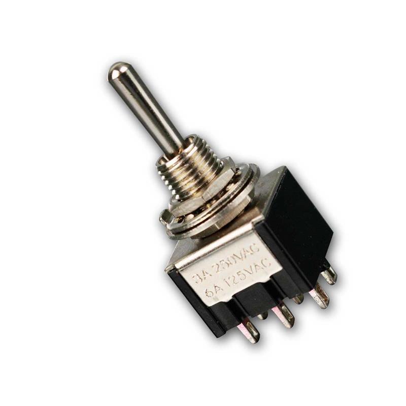 Miniatur-Kipptaster/-schalter   2-polig   4x Schließer  250V