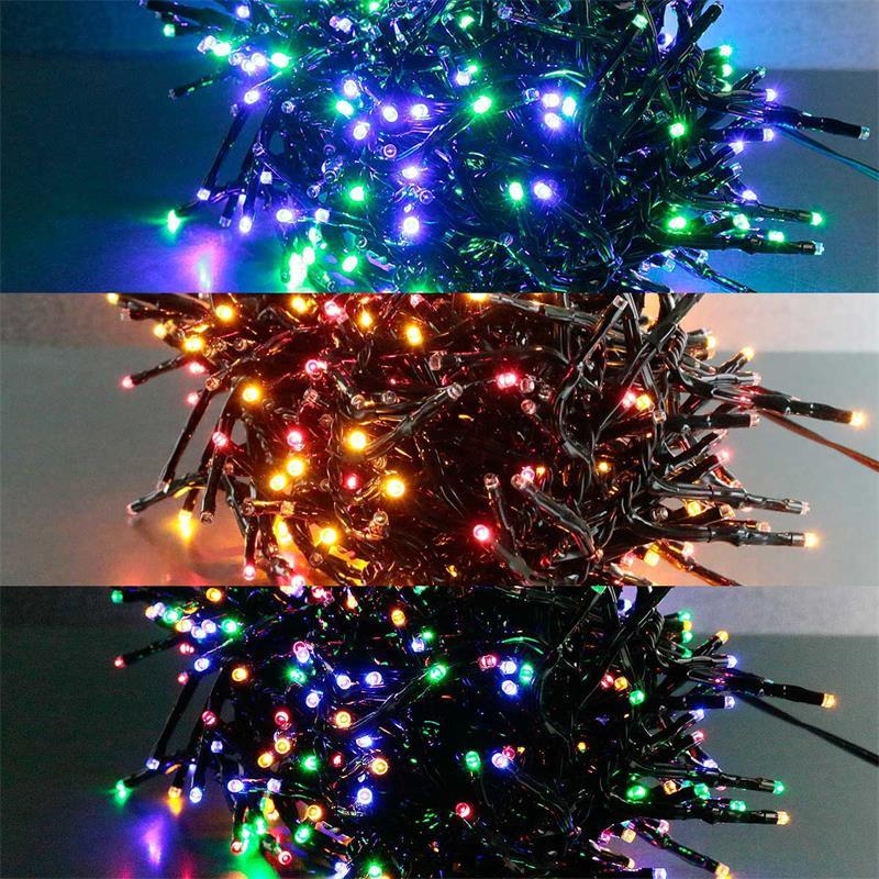 Weihnachtsbeleuchtung Außen Für Große Bäume.Led Büschel Lichterkette Warmweiß Rgb Außen 4 6 8 10m