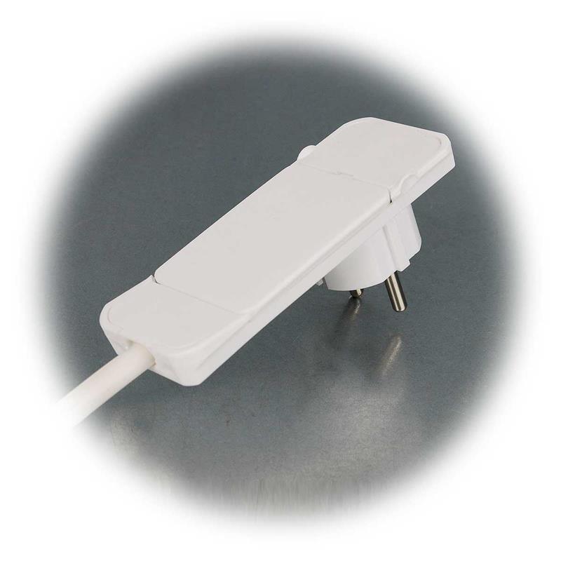 flachstecker mit 3er verteiler wei smart plug 12 5mm. Black Bedroom Furniture Sets. Home Design Ideas