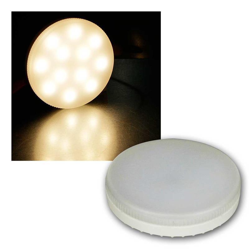 3er Set LED Leuchtmittel GX53 Sockel | LED-Strahler flach