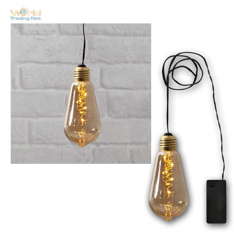 deko licht glow 5 led warmwei glas gl hbirne lichterkette batteriebetrieb ebay. Black Bedroom Furniture Sets. Home Design Ideas