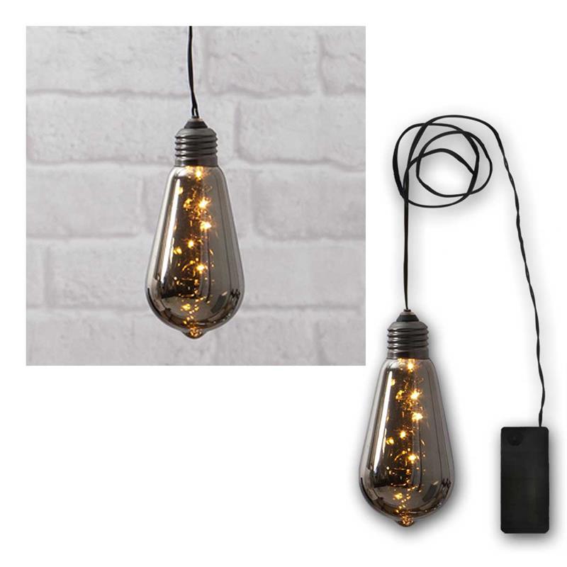 led deko licht glow schwarz batterie timer warmwei. Black Bedroom Furniture Sets. Home Design Ideas