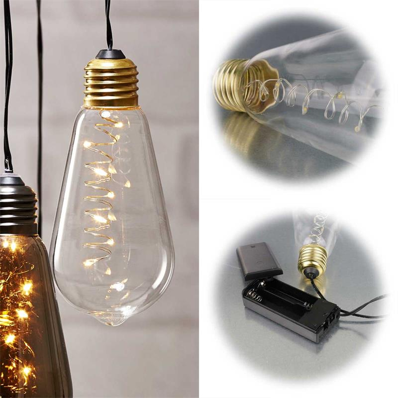 Led Deko Licht Glow Innen Batterie Timer 3 Farben