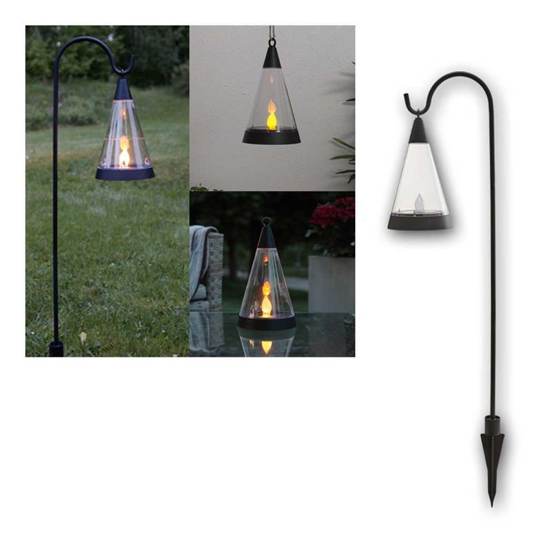 Solar LED flare PISA | flickering | IP44 | amber | 3 in 1