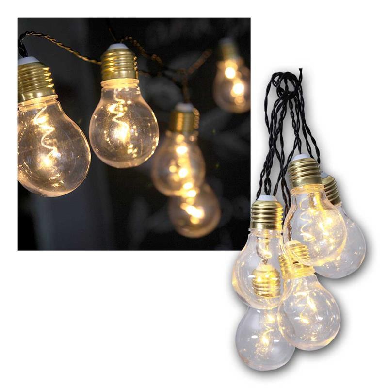 batterie lichterkette glow glas klar warmwei 5 leds. Black Bedroom Furniture Sets. Home Design Ideas