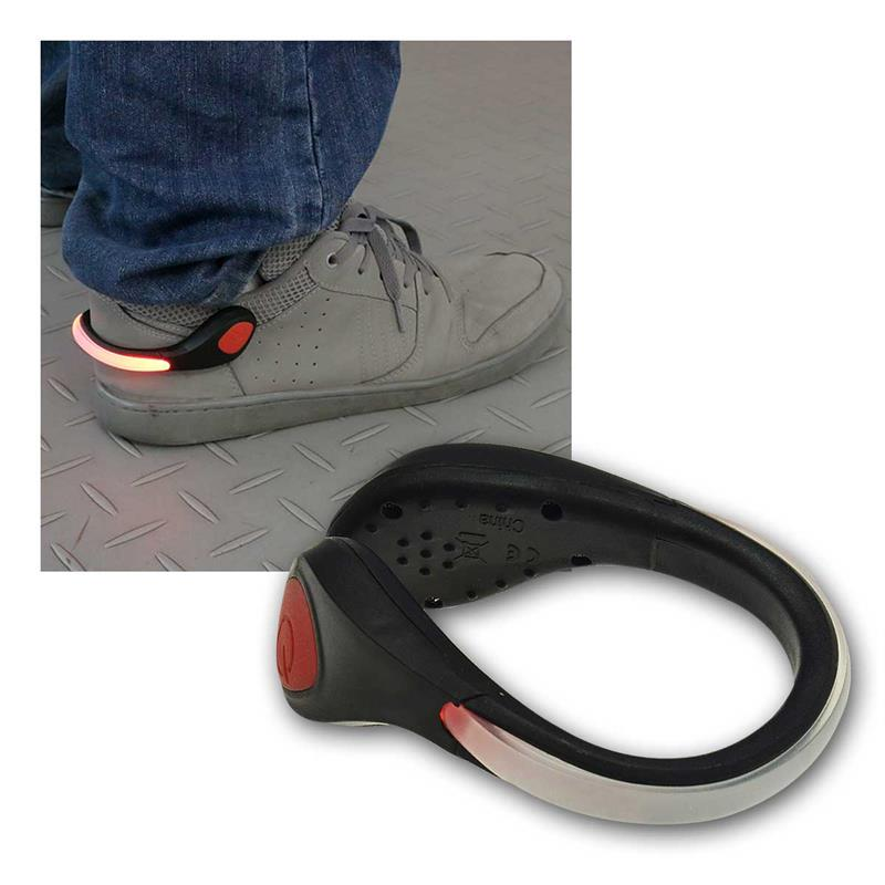 LED shoe clip | reflector for jogger | red LED| splash-proof