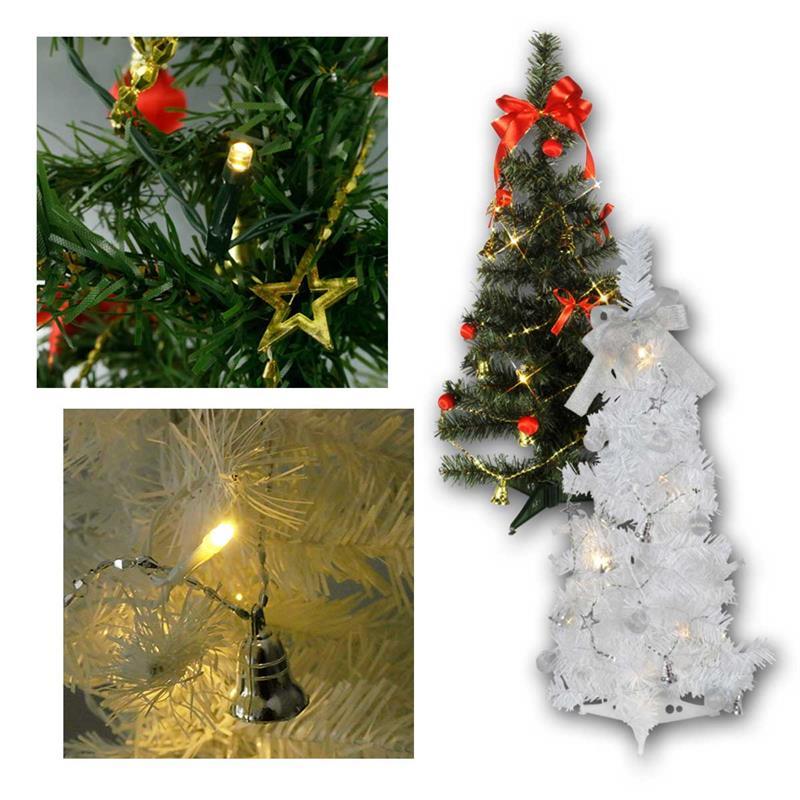 Mini Weihnachtsbaum Mit Batterie.Led Tannenbaum Mini Tree Batterie Timer 60cm 2 Farben
