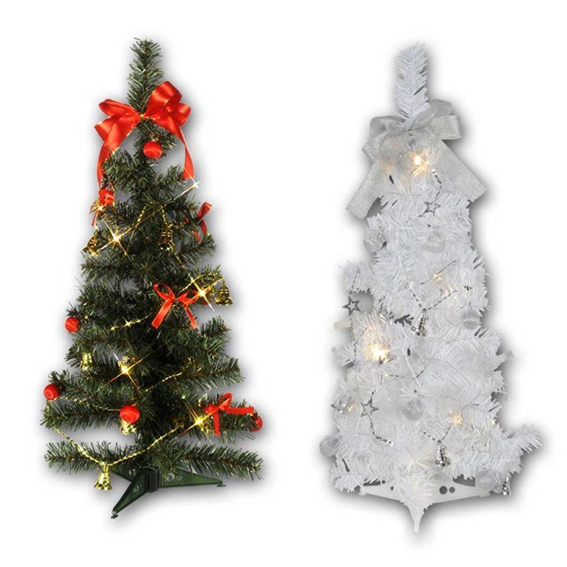 Kleiner Weihnachtsbaum Mit Beleuchtung.Led Tannenbaum Mini Tree Batterie Timer 60cm 2 Farben