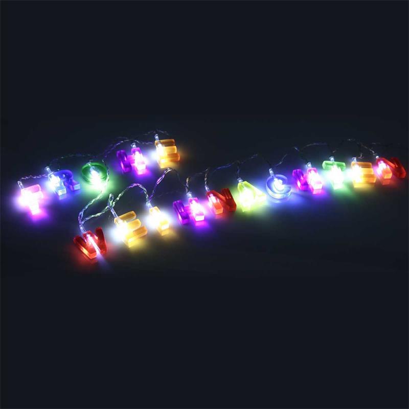 Buchstaben Frohe Weihnachten.Led Lichterkette Frohe Weihnachten Bunt 1 75m Batterie