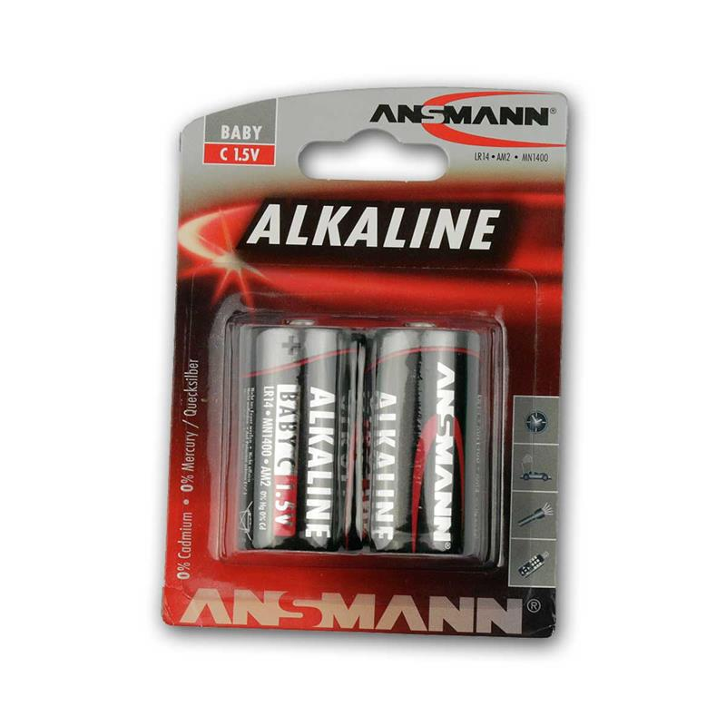 Alkaline Battery Baby C Lr14 1 5v 2 Pack