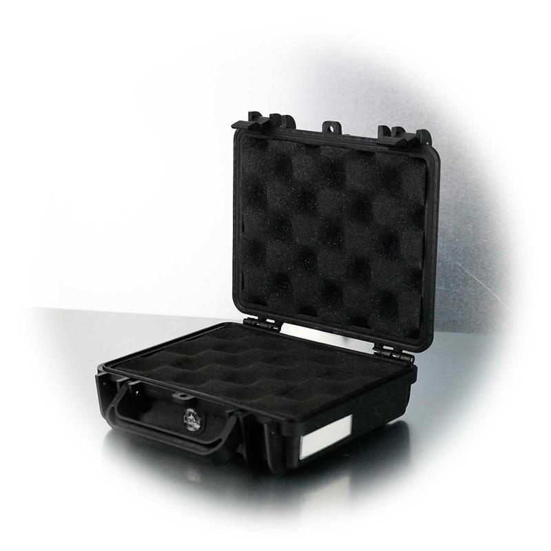 Gerätekoffer | Staub-/wasserdicht | 19x17,5x6cm| schwarz