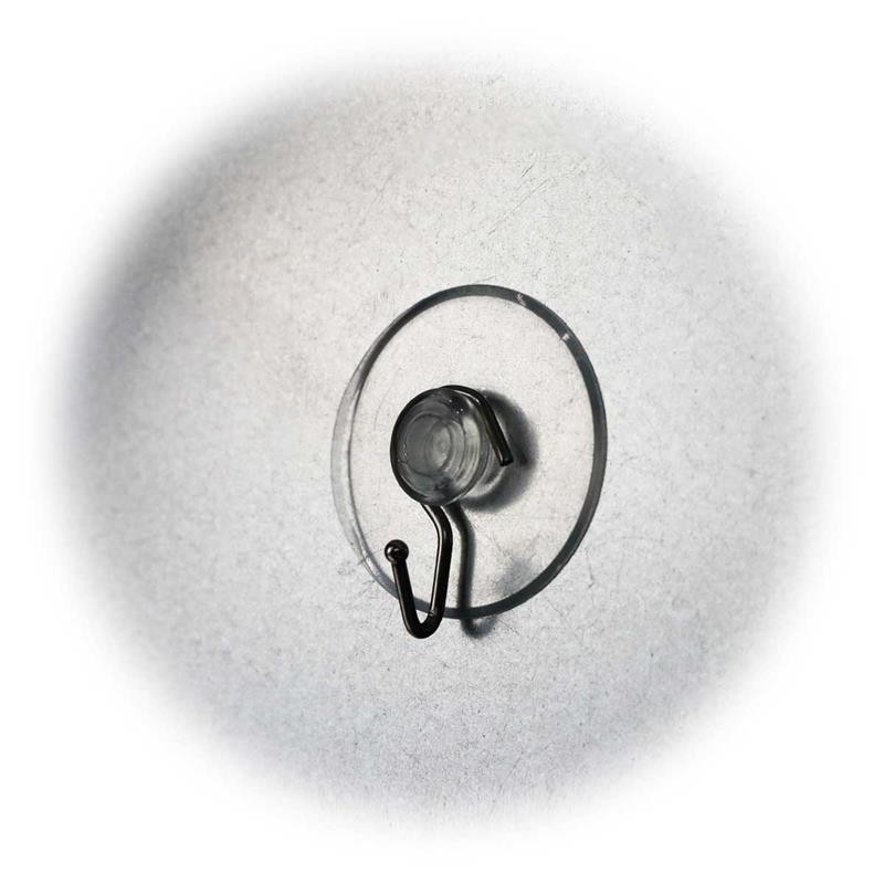 Set of 10 metal hooks |  suction cup | Ø42mm | transparent