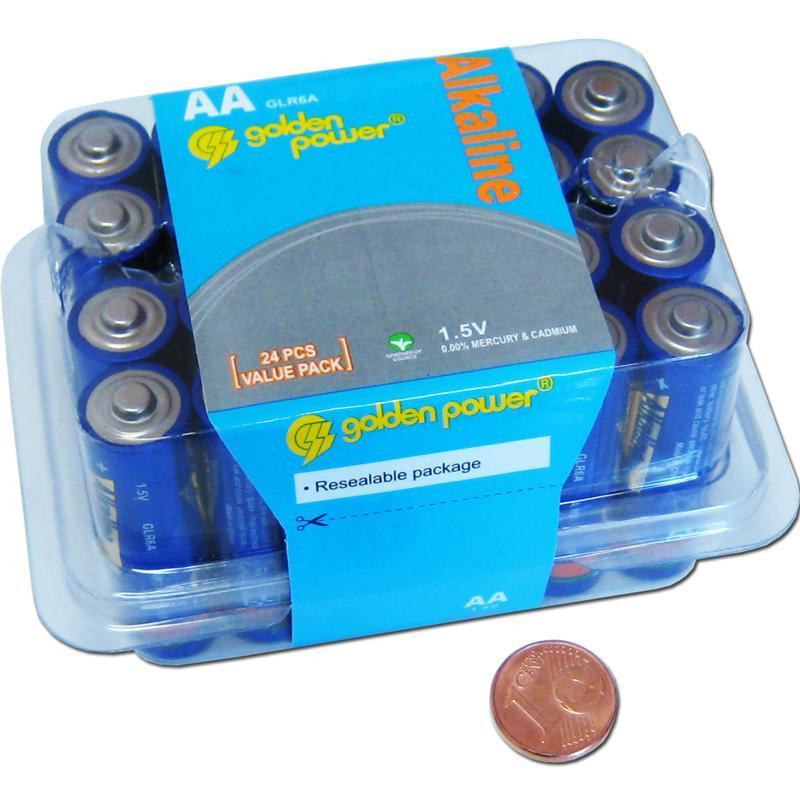 24er haushaltspack mignon batterie typ aa 1 5v. Black Bedroom Furniture Sets. Home Design Ideas