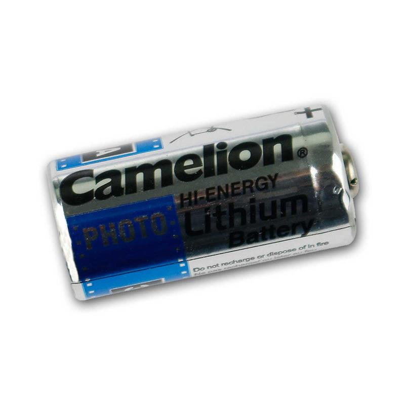 Photo lithium battery CR123A   CAMELION, 1300mAh to 2V
