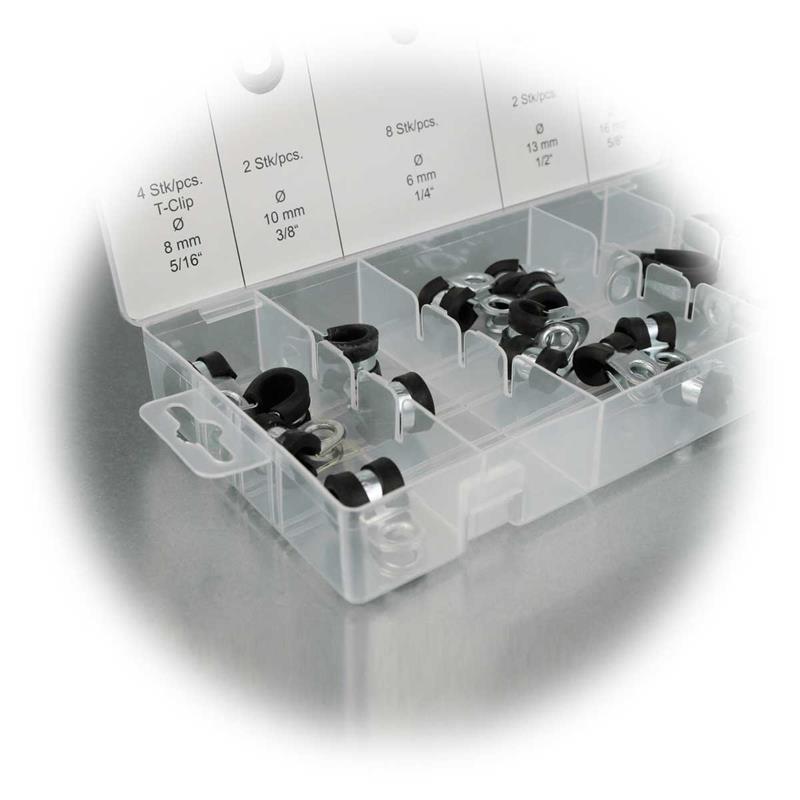 Schlauchschellen Sortiment, 18-teilig | für Kabel-Ø 6-16mm