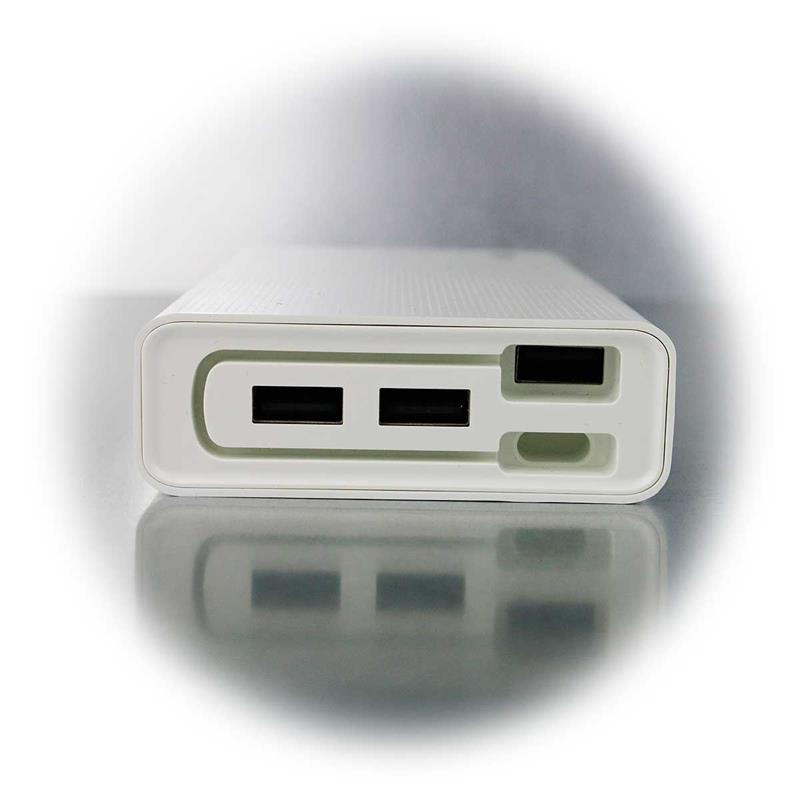 Powerbank | 20Ah | integrated charging cable | 3x USB out