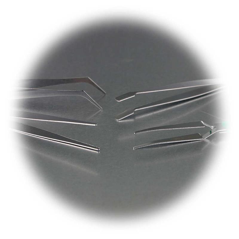 Pinzetten-Set 4-teilig rostfrei 110mm PINZETTE