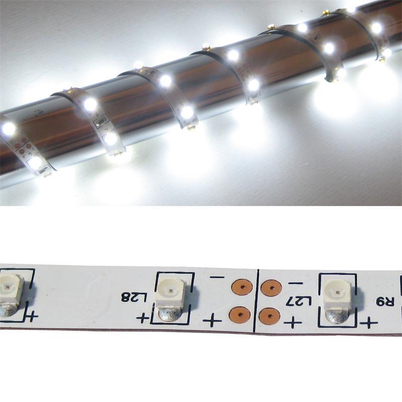 5m FLEX SMD Streifen 300 LED weiß 12V PCB-WEISS