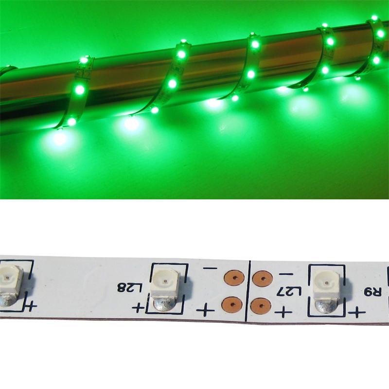 40cm FLEX SMD Streifen 24 LED grün 12V PCB-WEISS