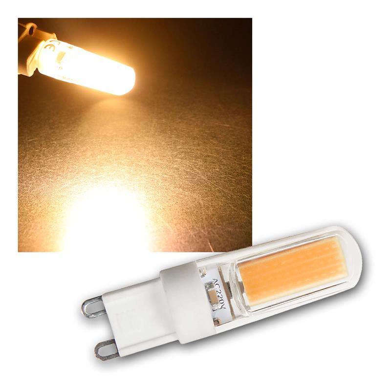 3x LED G9 Leuchtmittel SILICIA COB | G9 Stiftsockelleuchte
