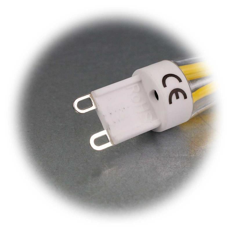 3x G9 LED Filament Birne | Sparset G9 Stiftsockelleuchte