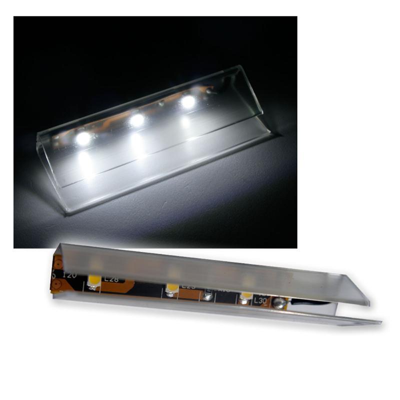 4er set led glasbodenbeleuchtung 66mm pur wei. Black Bedroom Furniture Sets. Home Design Ideas