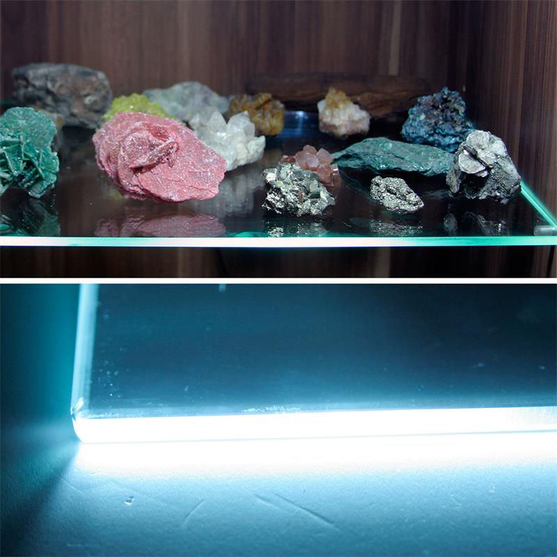 4er SET LED Glasbodenbeleuchtung 66mm pur-weiß
