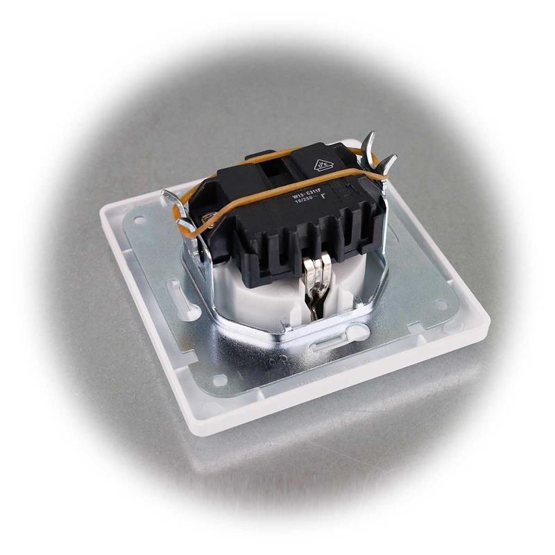 MILOS socket | white matt | flush, with frame | 250V/10A