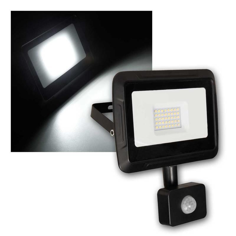 LED Außenstrahler SUPER- SLIM| 30W | Parkplatz, Haus, Garten