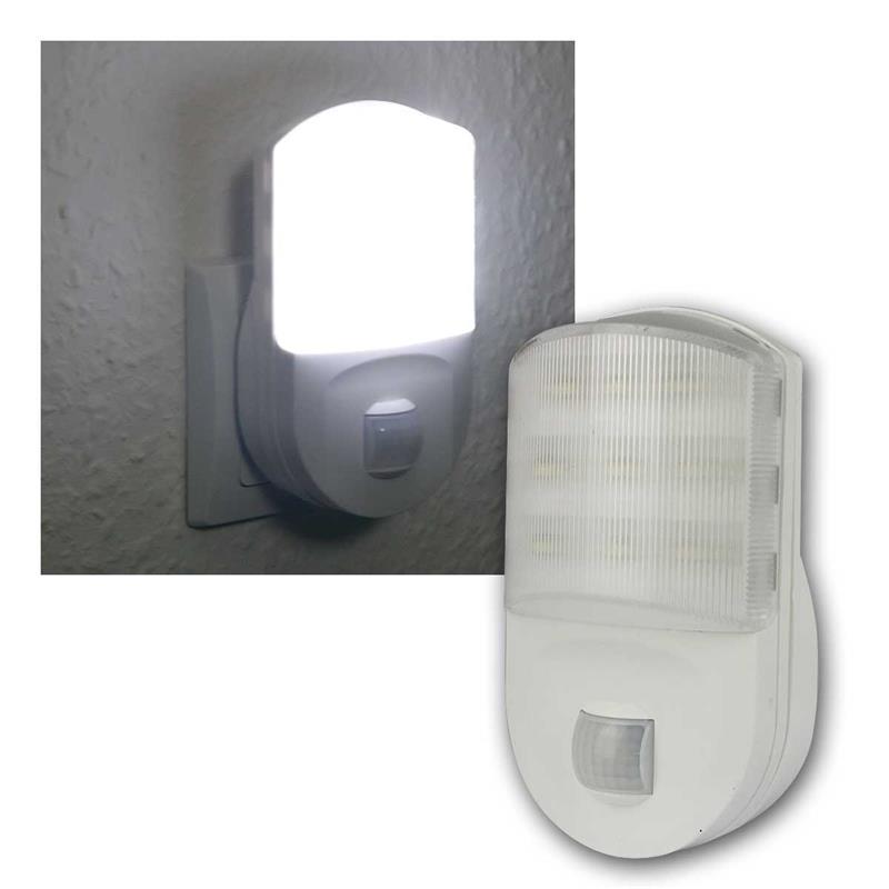 LED Nachtlicht mit PIR Bewegungsmelder | kaltweiß, 230V
