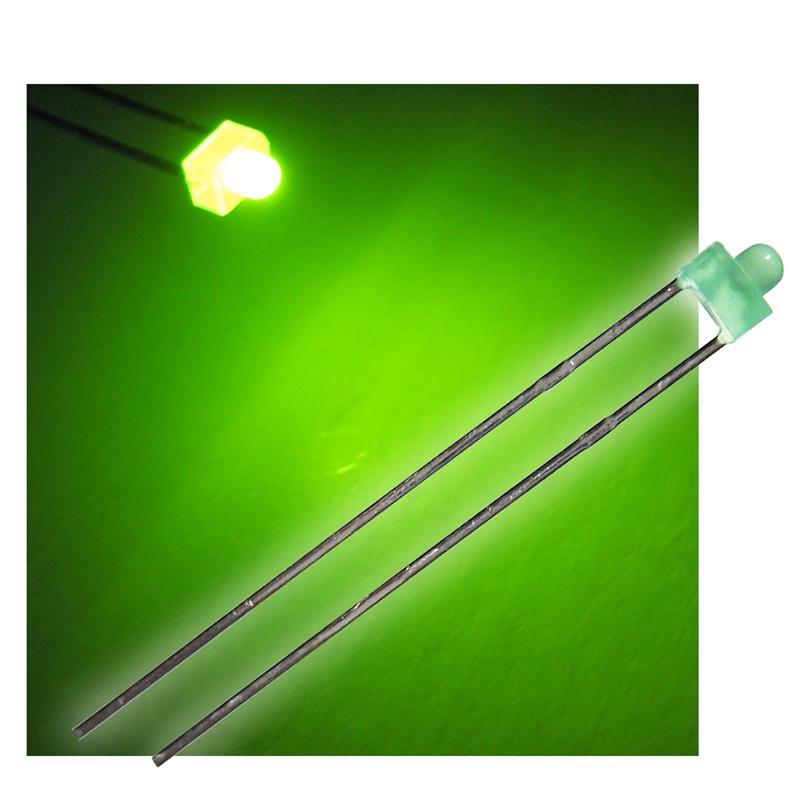 "10 LED 1,8mm diffus grün Typ ""WTN-18-10"""