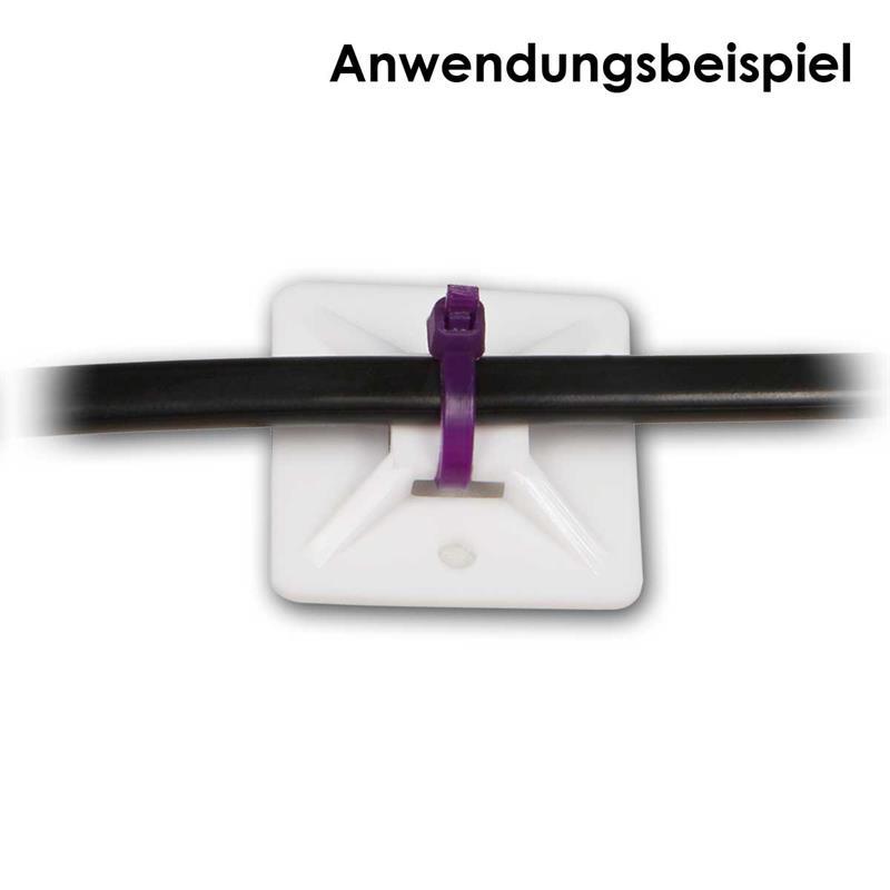Klebesockel für Kabelbinder | selbstklebend | Montagesockel
