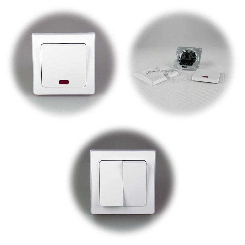 DELPHI Sets Tür | Schalter, Steckdose, Dimmer | weiß, UP