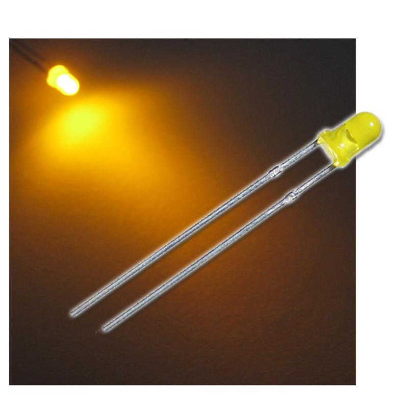 """10 LEDs 3mm diffus gelb Typ """"WTN-3-1500ge"""""""