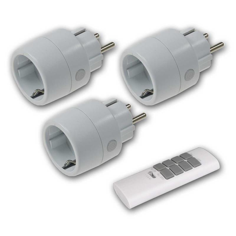 3 Indoor Wireless socket with remote control | Pilota Casa
