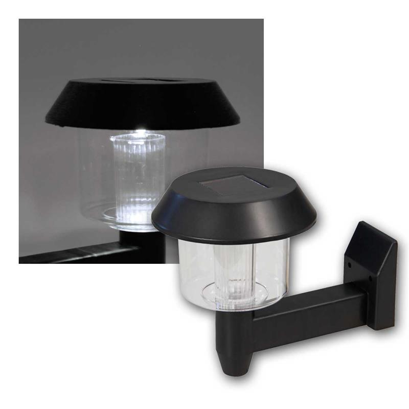 LED Solar Wandleuchte | kaltweiß, Dämmerungssensor | IP44