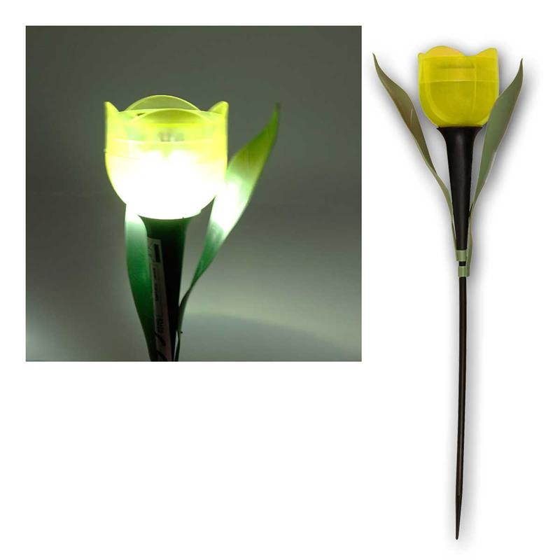 LED Dekoleuchte Tulpe   mit Solarpanel   farblich unsortiert