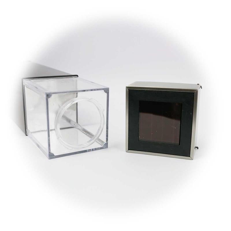 2er Set LED Gartenleuchte mit Solar | mit Dämmerungssensor