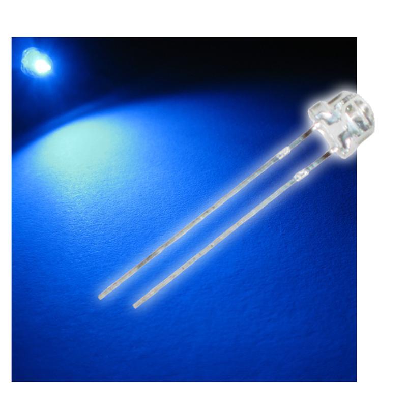 "10 LED 4,8mm blau Flachkopf Typ ""WTN-48-2000b"""