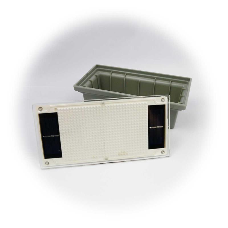 3er Set LED Pflasterstein Solar   LED Bodenspot trittfest