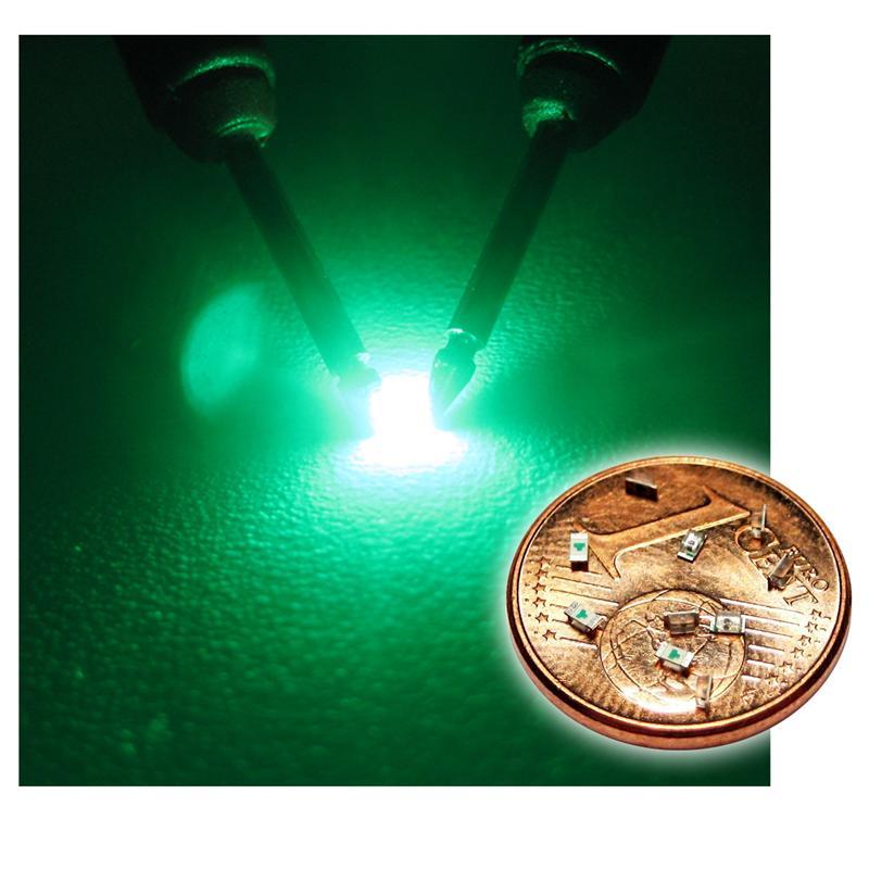 """10 SMD LED 0603 GRÜN Typ """"WTN-0603-180gr"""" grüne"""
