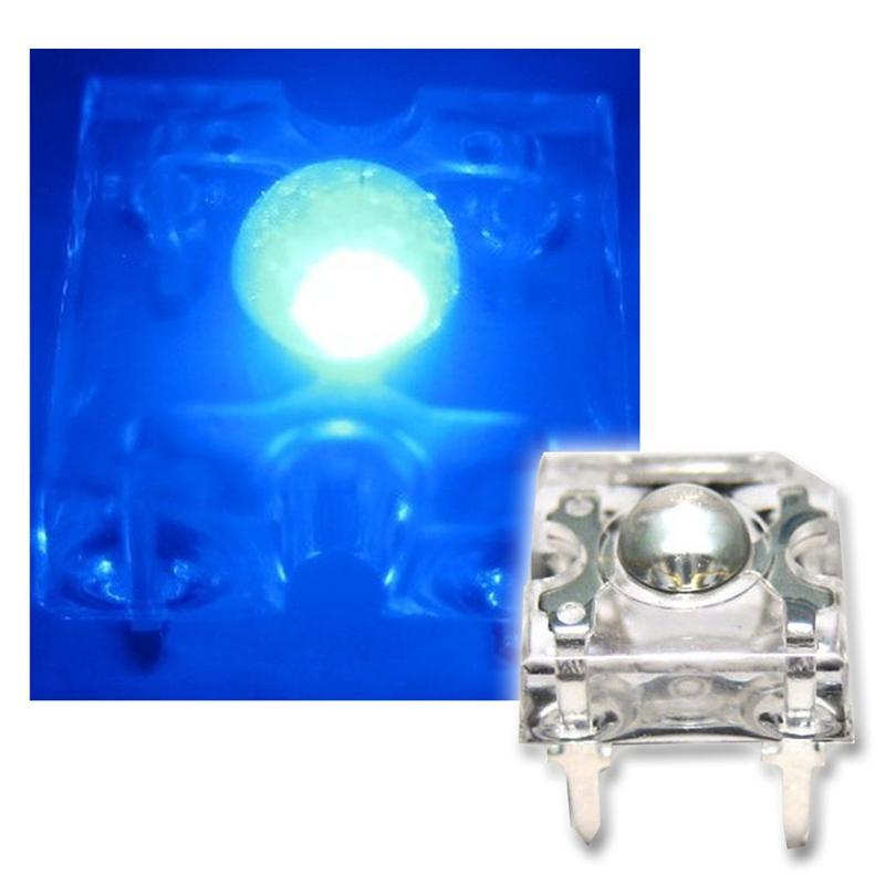 10 SuperFlux LED blau - 3mm Linse Piranha-LEDs SET