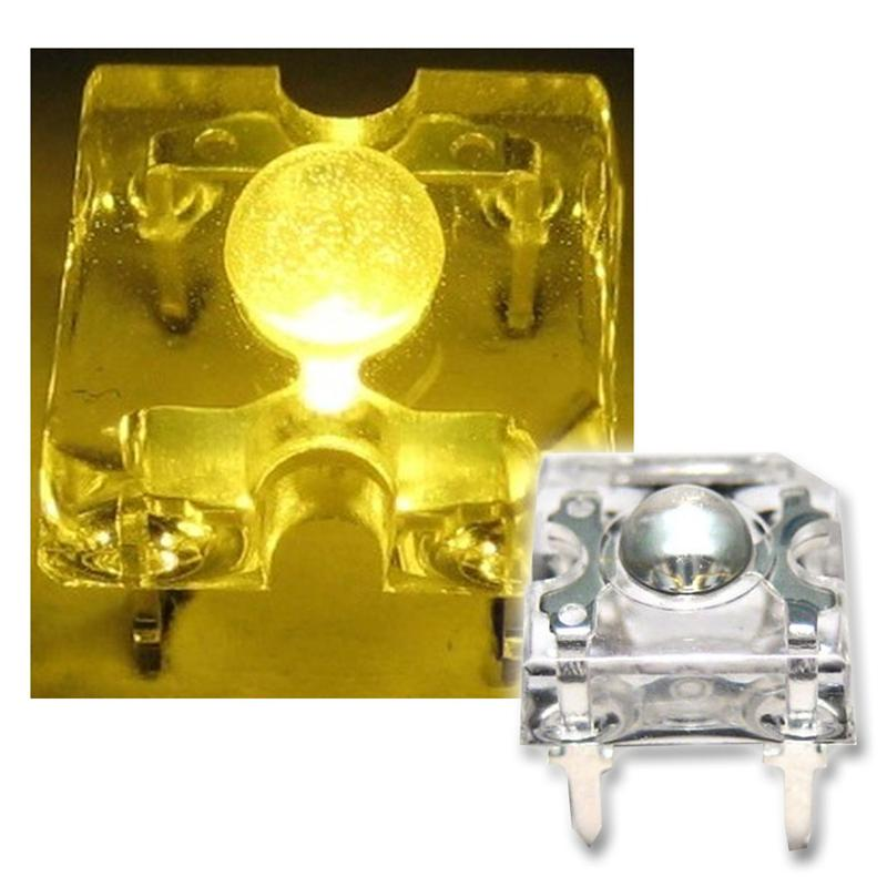 10 SuperFlux LED gelb - 3mm Linse Piranha-LEDs SET