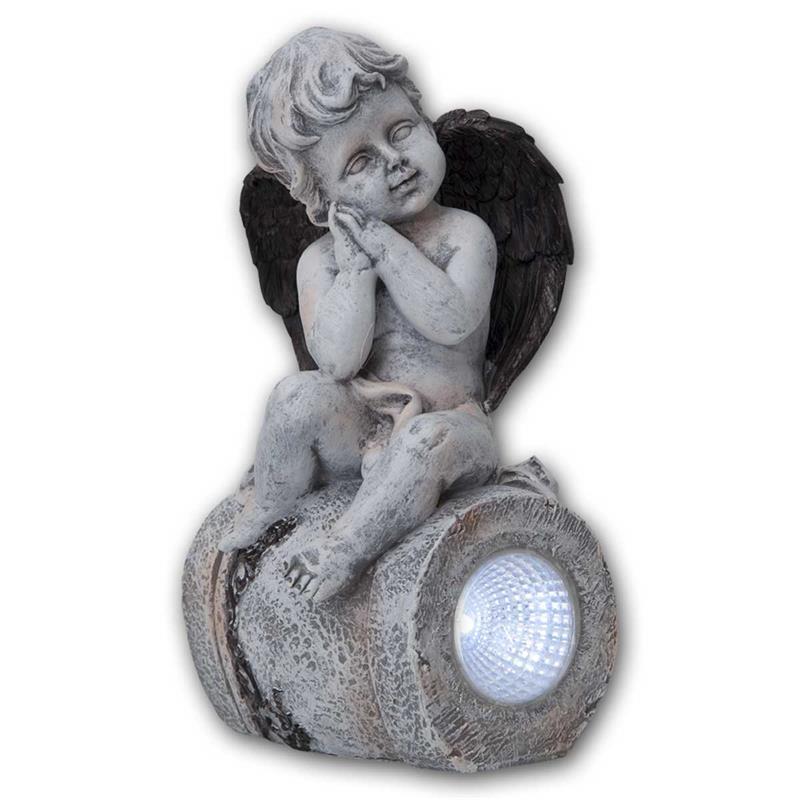 LED Solar-Figur ANGEL | 11x23cm | Engelsfigur beleuchtet