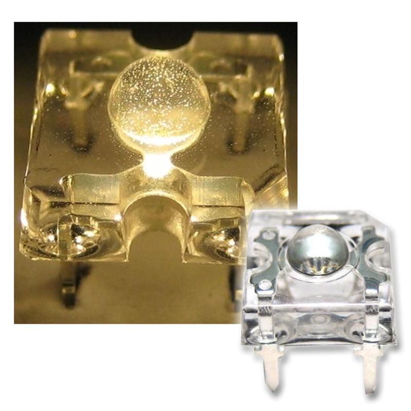 10 SuperFlux LED warm-weiß - 3mm Linse Piranha SET